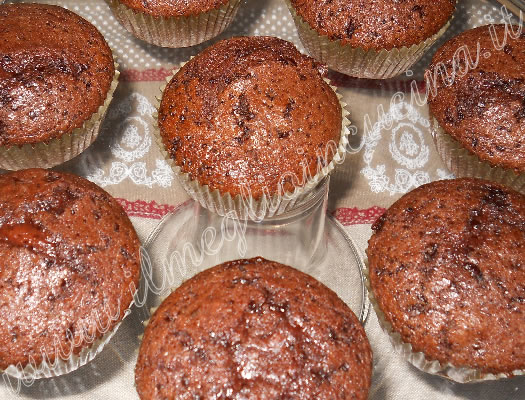 Soft chocolate muffins