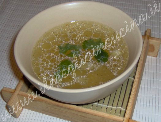 Bamboo sprouts soup